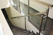 Поручни ,  перила,  лестничные ограждения из нержавеющей стали и стекла