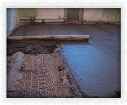 Укладка цементно-пещанных стяжек любой сложности
