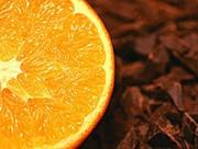 Кондитерская шоколадная начинка со вкусом апельсина.