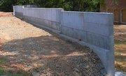 Cтроительство усиленной опорной стены