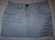 Юбка джинсовая голубая,  размер 42-44