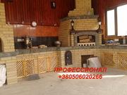 Строительсво беседок с БАРБЕКЮ комплексом-мангал, печь, коптильня Донецк