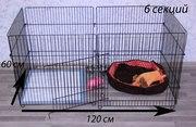 Вольер - манеж 1200х600х600 мм. для собак,  котов,  щенков,  котят