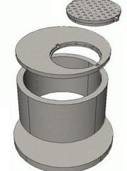 Кольца колодца крышки,  днища диаметр 1м,  1, 5м