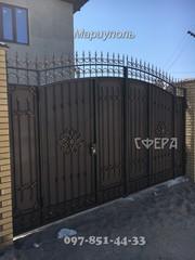 Кованые ворота,  распашные,  откатные,  решетчатые,  металлические калитки,  художественная ковка,  кованые изделия от производителя.