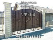Ворота распашные,  металлические сварные ворота,  кованые,  фото,  купить,  заказать,  цена.